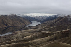 在爱达荷和俄勒冈之间的斯内克河峡谷 免版税库存照片