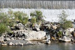 在爱达荷的瀑布在爱达荷落 图库摄影