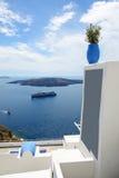 在爱琴海和游轮的看法 免版税库存图片
