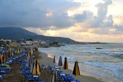 在爱琴海的海岸的海滩 库存照片