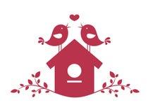 在爱2的鸟 免版税库存照片