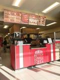 在爸爸约翰里面'南美比萨联锁饭店在得克萨斯,美国 免版税库存照片