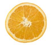 在片式白色的背景桔子 免版税库存照片