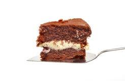 在片式的巧克力蛋糕 免版税库存图片