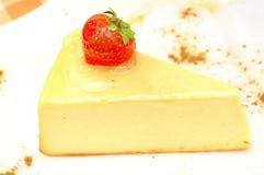 在牌照的乳酪蛋糕 免版税库存图片