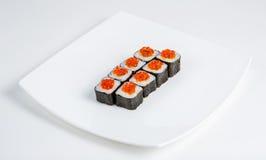 在牌照的寿司 免版税图库摄影