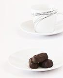 在牌照的巧克力 免版税库存图片