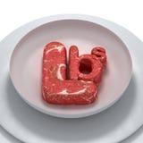 在牌照的肉 免版税库存图片