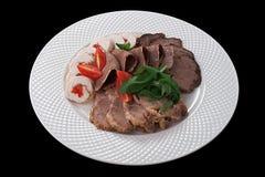 在牌照的肉 免版税库存照片