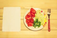 在牌照的蔬菜 免版税库存照片