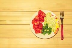 在牌照的蔬菜 免版税库存图片