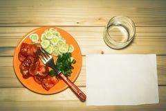 在牌照的蔬菜 免版税图库摄影