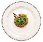在牌照的Caprese开胃菜,查出 库存照片