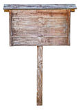 在牌空白木的对象 免版税库存照片