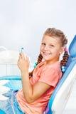 在牙齿诊所 免版税库存照片