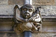 在牛津大学的面貌古怪的人 库存照片
