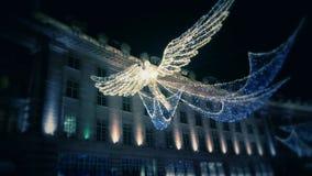 在牛津街道上的Chritsmas天使 免版税库存图片