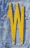 在口袋的木米 免版税图库摄影