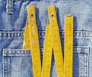 在口袋的木米 免版税库存照片