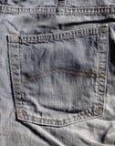 在牛仔裤的口袋 免版税库存图片