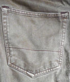 在牛仔裤的口袋 免版税库存照片