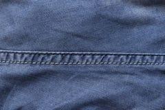 在牛仔裤的缝 库存照片