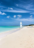 在特克斯和凯科斯群岛的海滩 免版税库存图片