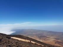 在特内里费岛的火山 免版税库存图片