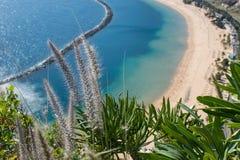 在特内里费岛的美丽的海滩 免版税库存图片