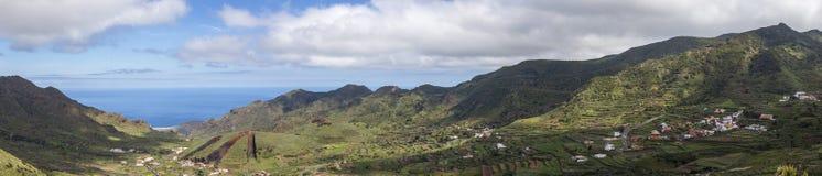 在特内里费岛,加那利群岛的全景风景视图 免版税库存图片
