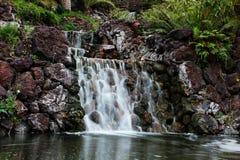 在特内里费岛,加那利群岛的瀑布 免版税库存图片