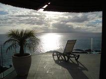 在特内里费岛的海视图 图库摄影