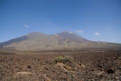 在特内里费岛的火山的风景 免版税库存图片