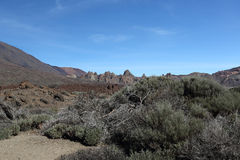在特内里费岛的登上Teide 图库摄影