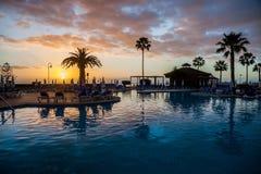在特内里费岛的水池 免版税库存照片
