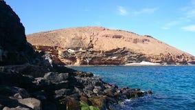 在特内里费岛,除海以外的峭壁的风景 库存照片
