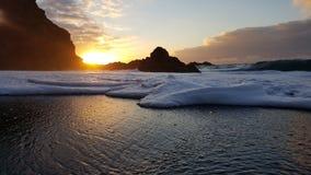 在特内里费岛Teneriffa的海滩 免版税库存图片
