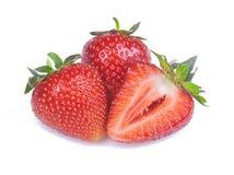 在特写镜头的草莓 库存照片