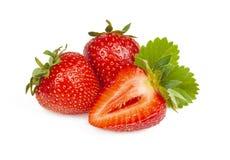 在特写镜头的草莓 库存图片