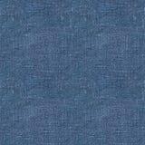 蓝色亚麻制无缝的纹理 库存照片
