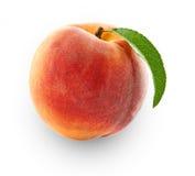 在特写镜头隔绝的桃子 免版税图库摄影