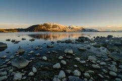 在特卡波湖的早晨 库存照片