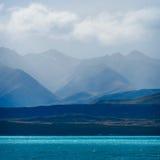 在特卡波湖,新西兰的日落 库存照片