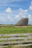 在特塞尔海岛上的谷仓  免版税库存照片