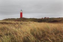 在特塞尔海岛,荷兰上的灯塔 免版税库存图片
