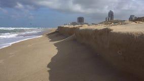 在特拉维夫,以色列附近的沿海 股票视频