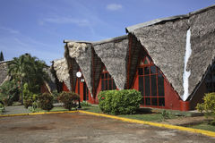 在特立尼达镇附近的大厦 古巴 库存图片