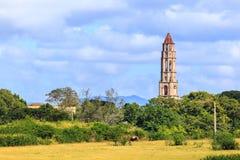 在特立尼达附近的Manaca Iznaga 库存照片