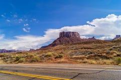 在状态路线128上,犹他,美国 免版税图库摄影