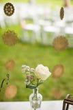 在犹太人的婚礼的花 库存图片